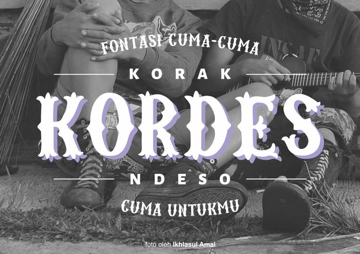 Kordes Font poster