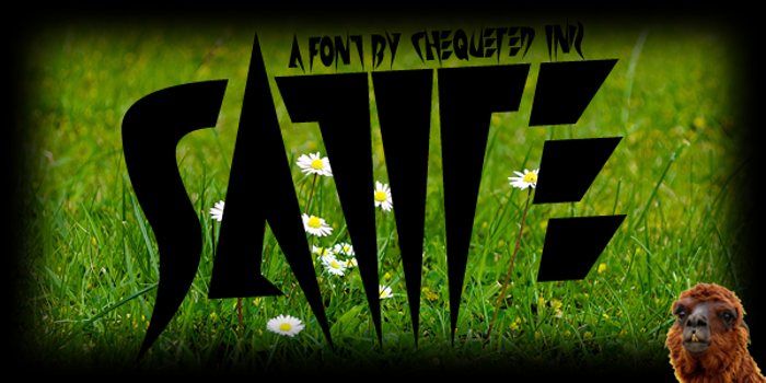Satire Font poster