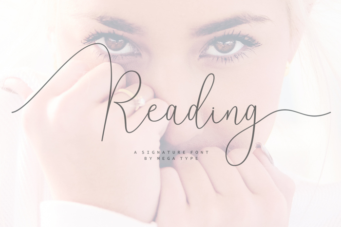 Reading Font poster