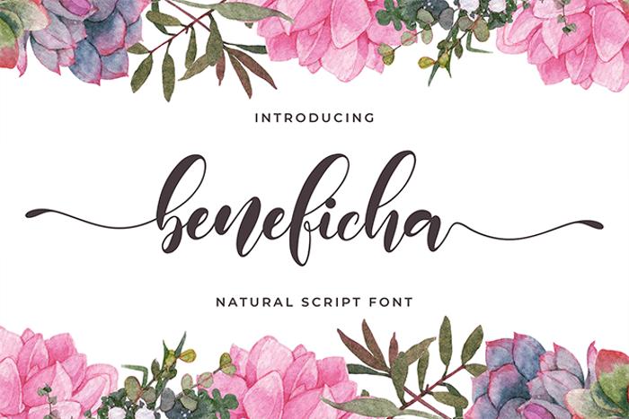 beneficha Font poster