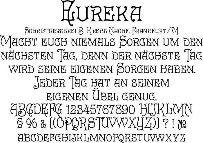 Eureka Font poster