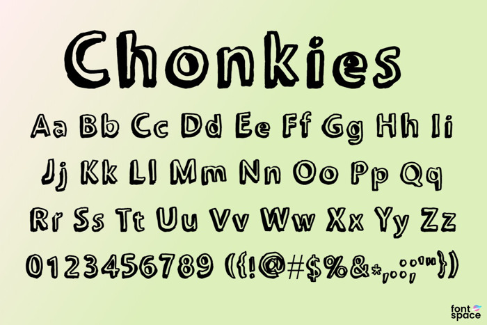Chonkies Font poster