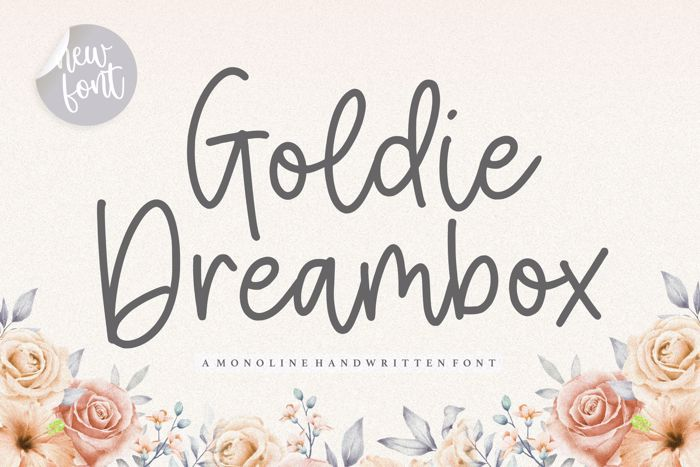 Goldie Dreambox Font poster