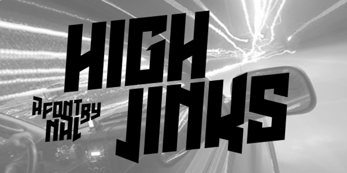 High Jinks Font poster
