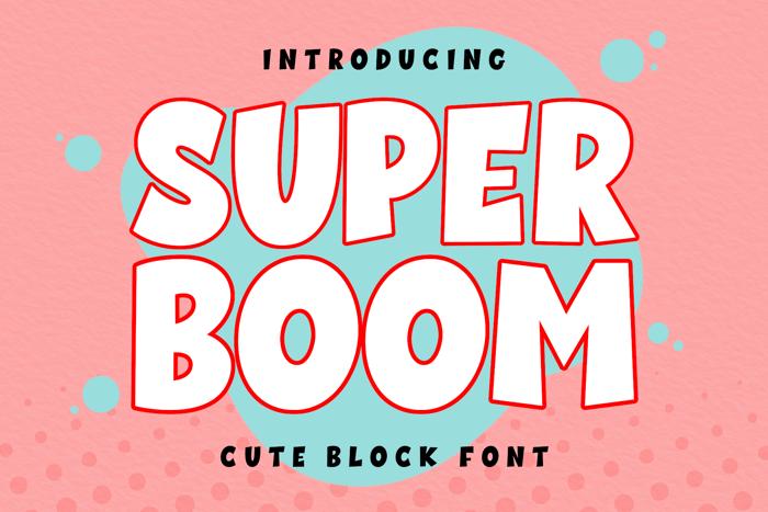 Super Boom Font poster