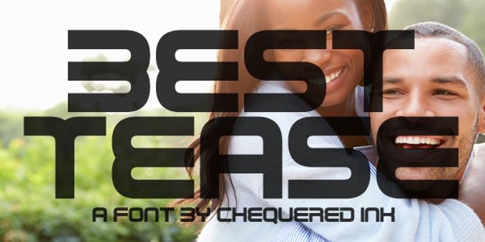 Best Tease Font poster