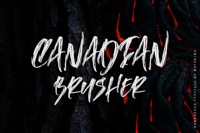 Canadian Brusher Font poster