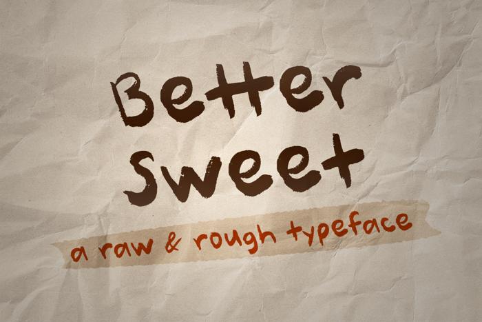 Better Sweet Font poster
