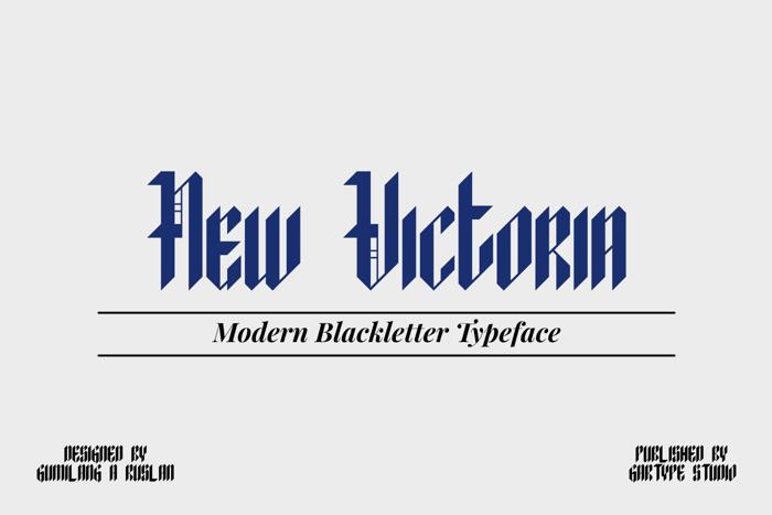 New Victoria Font poster