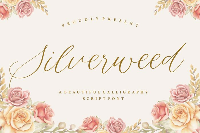 Silverweed Font poster
