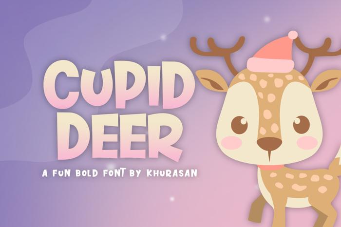 Cupid Deer Font poster