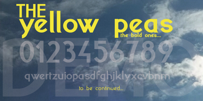 yellow peas  Font poster
