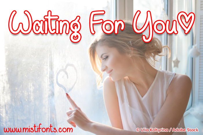 Waiting For You Font poster