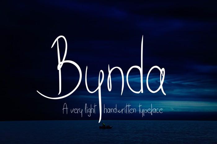 Bynda Font poster