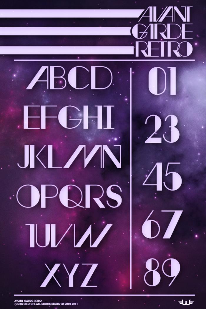 Avant Retro Font poster