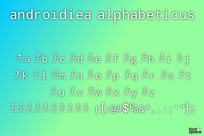 androidiea alphabeticus Font poster