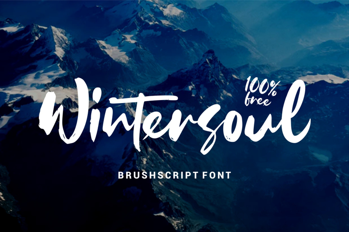 Wintersoul Font poster