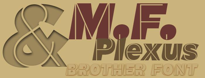 M.F. Plexus Italic Font poster