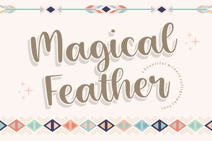 Magical Feather Font poster