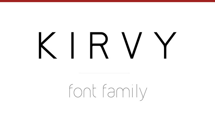 Kirvy Font poster