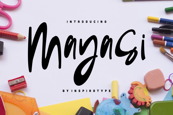 Mayasi Font poster