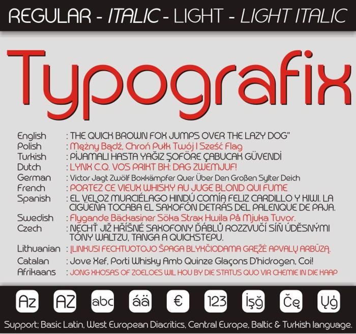 Typografix Font poster