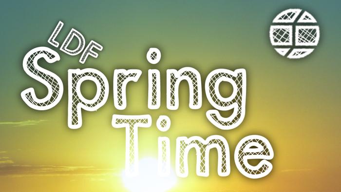 SpringTime Font poster