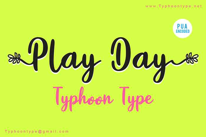 Play Day - Font poster
