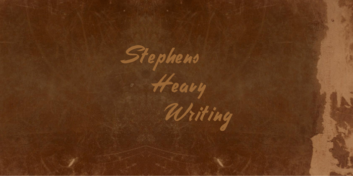 Stephens Heavy Writing Font poster