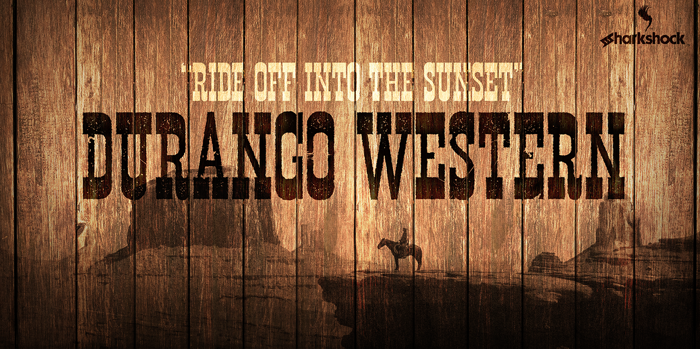 Durango Western Eroded Font poster