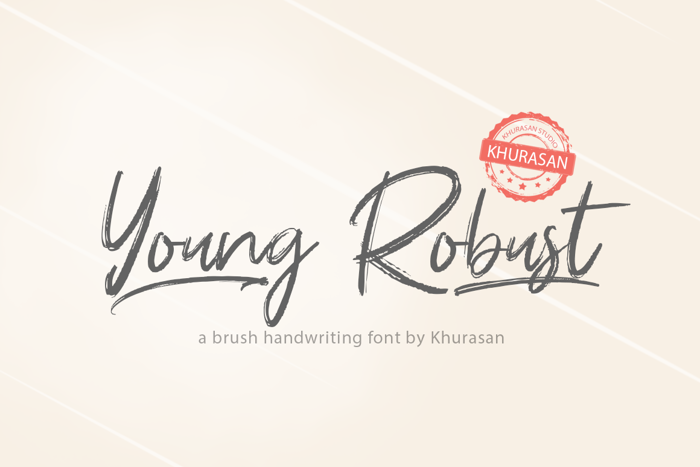 Young Robust Font poster
