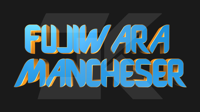 Fujiwara Manchester Font poster