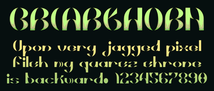 Briarthorn Font poster