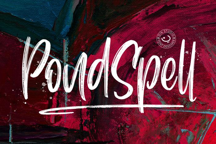 Pondspell Font poster