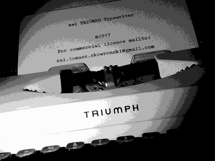 Triumph Typewriter Font poster