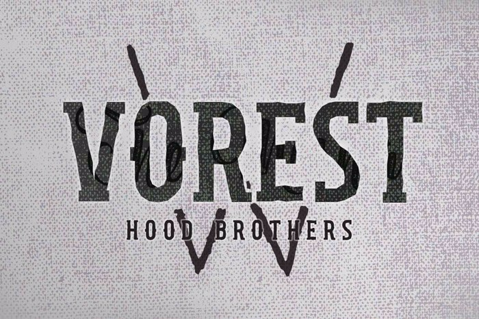 Hood Brothers Font poster