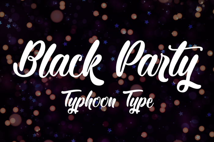 Black Party Font poster