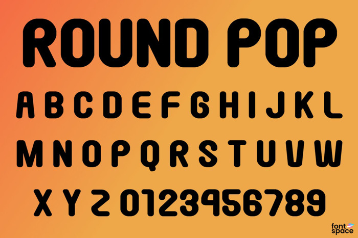 Round Pop Font poster