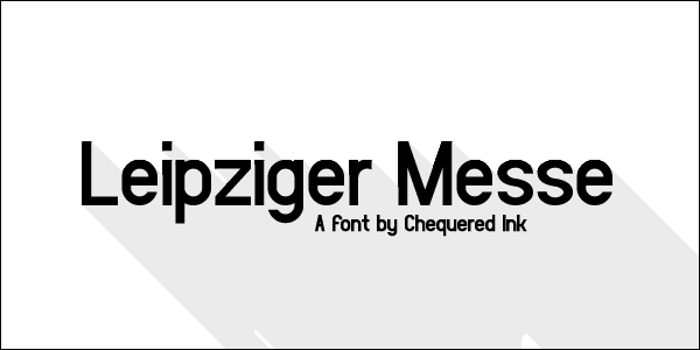 Leipziger Messe Font poster