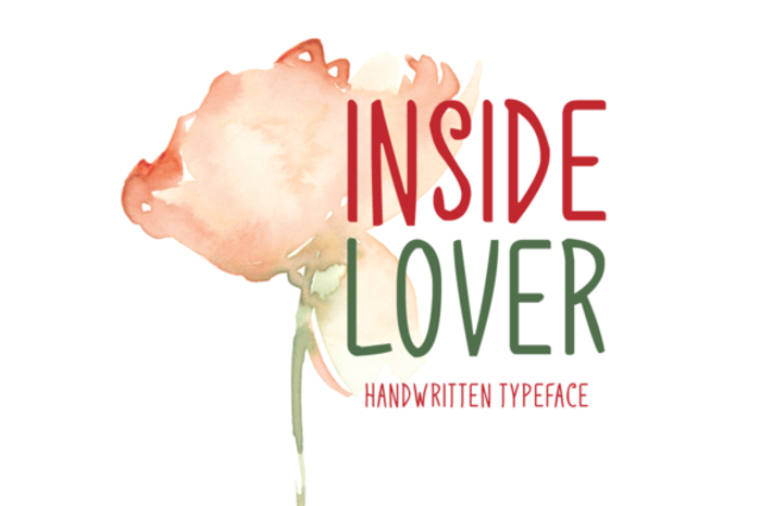 Inside Lover Font poster