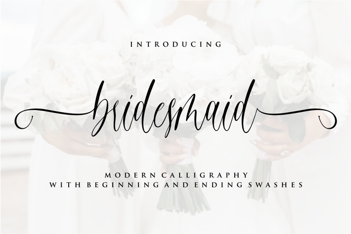 bridesmaid Font poster