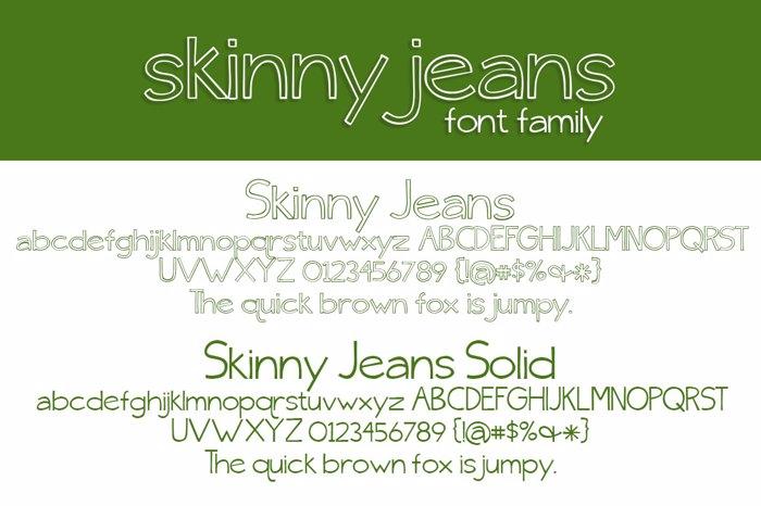 {skinny} jeans Font poster