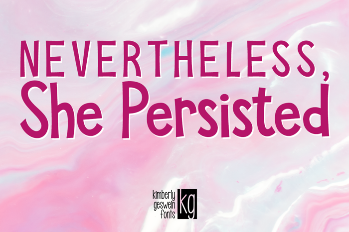 KG She Persisted poster