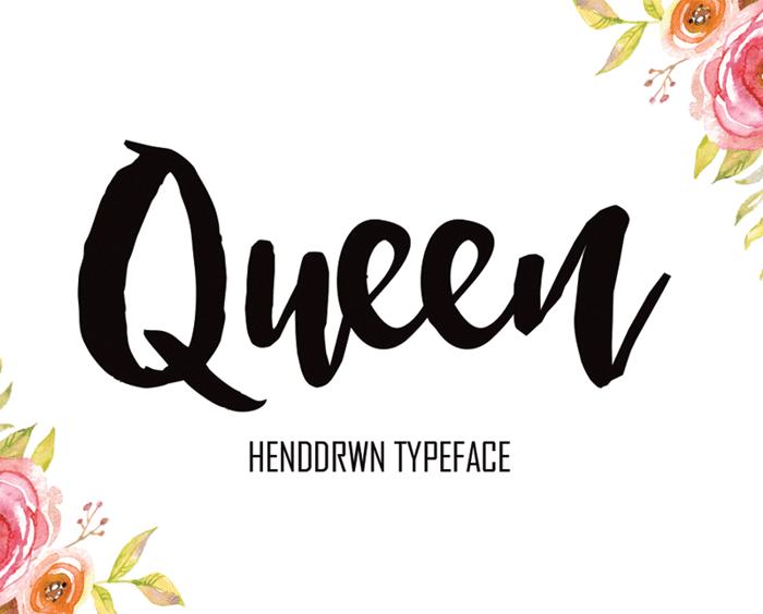 Queen Font poster