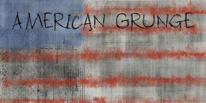 DK American Grunge Font poster