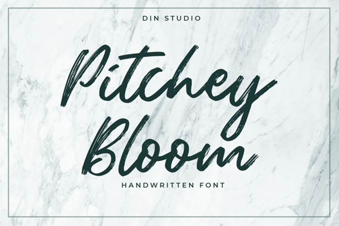 Pitchey Bloom Font poster
