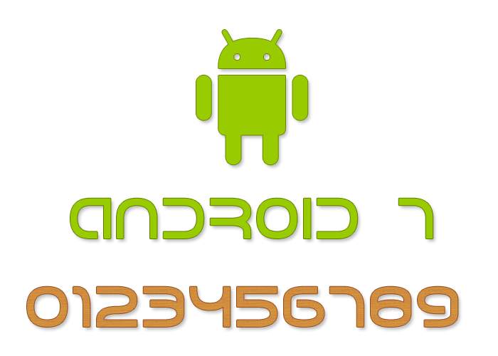 Android 7 Font poster