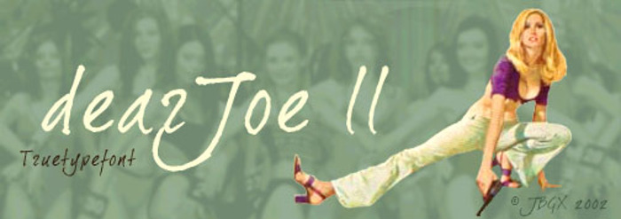 Dear Joe 2 Font poster