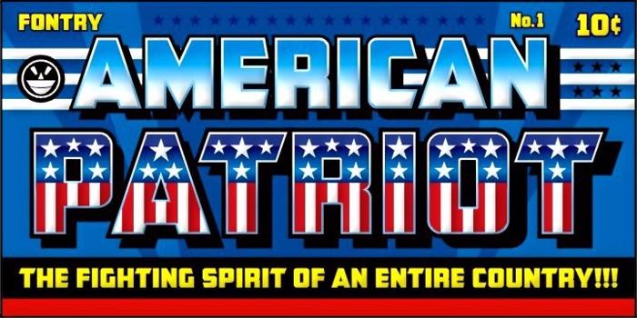 CFB1 American Patriot Font poster