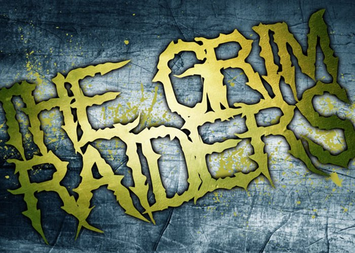 The Grim Raiders Font poster